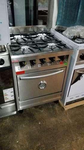 Cocina Industrial Rovesco 4 Hornallas 60cm. C/ Valvula Acero Inox. Nuevas!! Super Oferta!!