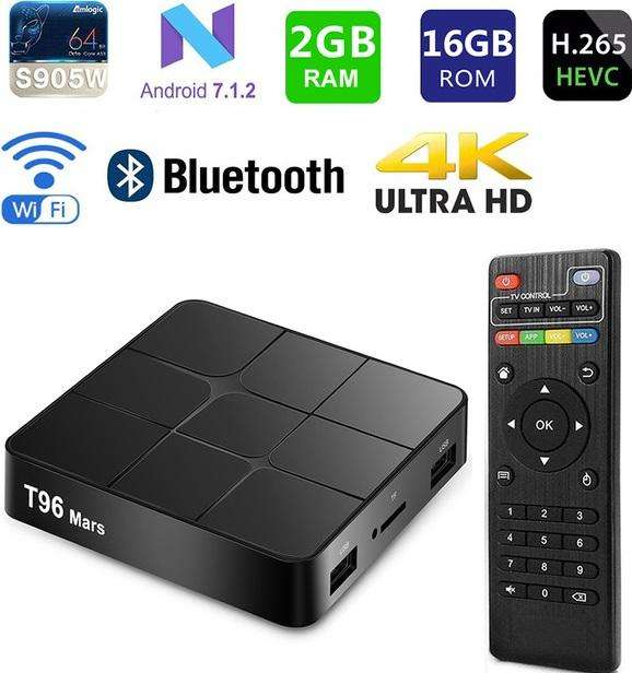 Smart Tv Box Mxq Pro Ram 2gb 16gb 4k Chrome Android 7 Cast