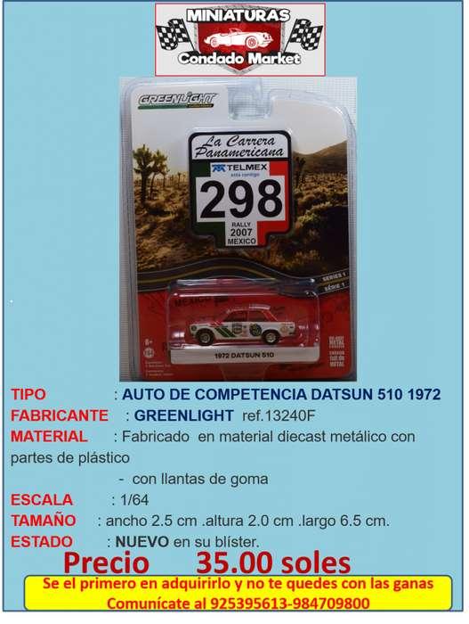 AUTO DE COMPETENCIA DATSUN 510 1972