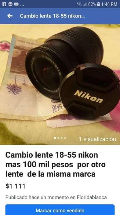Cambio Lente 18-55 Nikon por Otro Lente