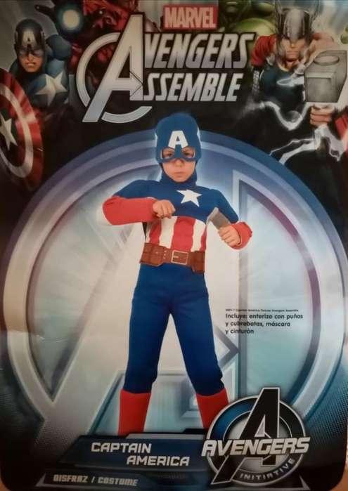 Disfráz de Capitán América - Talla 6
