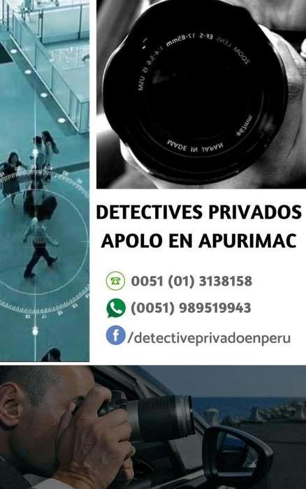 DETECTIVES PRIVADOS APOLO EN APURIMAC ABANCAY PERU