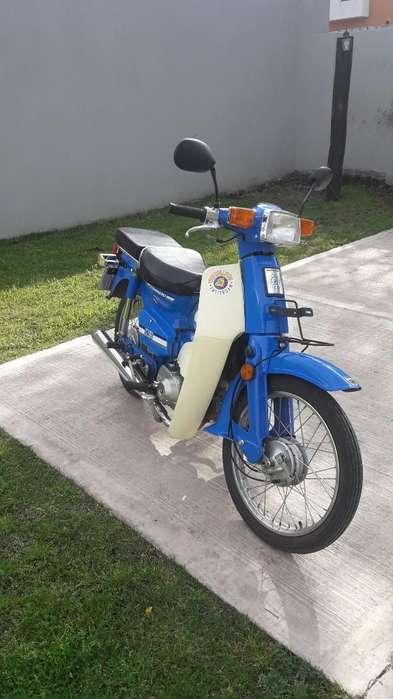 Moto Guerrero Econo 90 Cc, 3500 Km, Azul