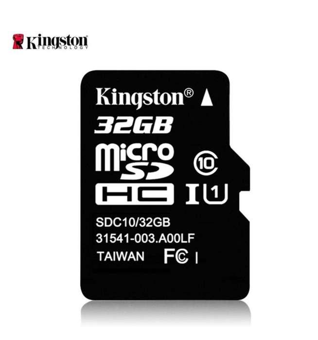 MEMORIAS MICRO SD DE 16, 32, 64 Y 128 GB KINGSTON ORIGINAL CLASE 10