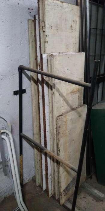 puertas metalicas chapa 18 con marco de caño