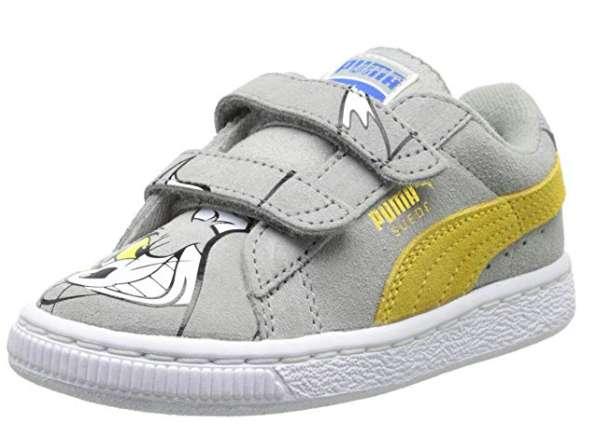 Zapatos tenis Puma Tom y Jerry Velcro niños
