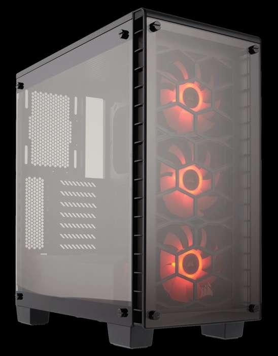 Gabinete Gamer Corsair Crystal 460x Rgb Negro