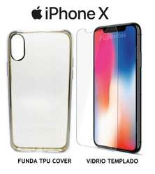 Funda Flexible Bordes De Colores Iphone X Ten 10 Rosario