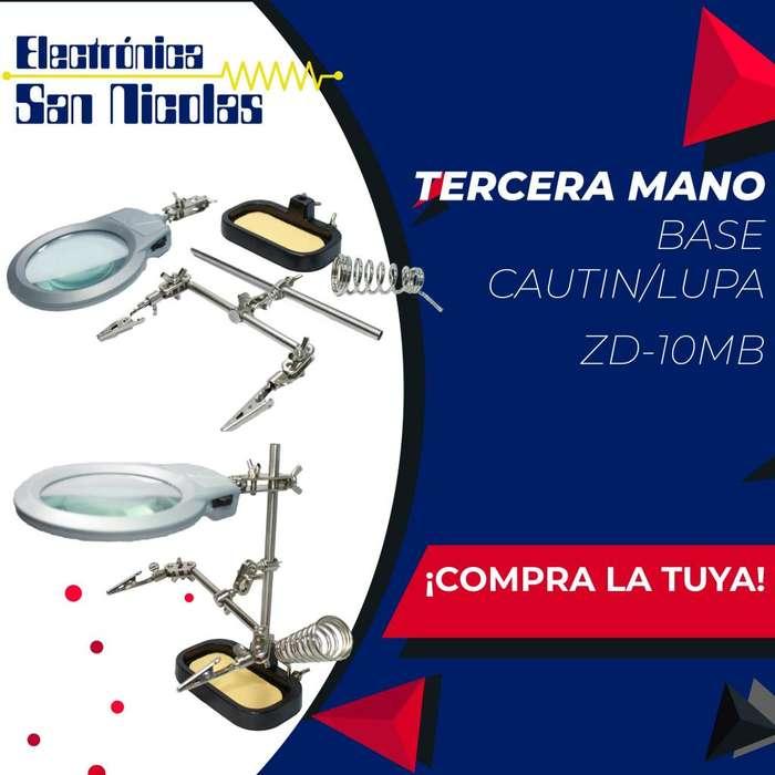 Tercera Mano Base Cautin/lupa Zd-10mb(7803)