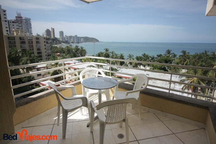 Apartamento balcon y vista al mar 3 habitaciones 180.000 por noche