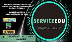 SERVICE EDU: INSTALACIONES Y REPARACIONES DE PLOMERIA EN GENERAL