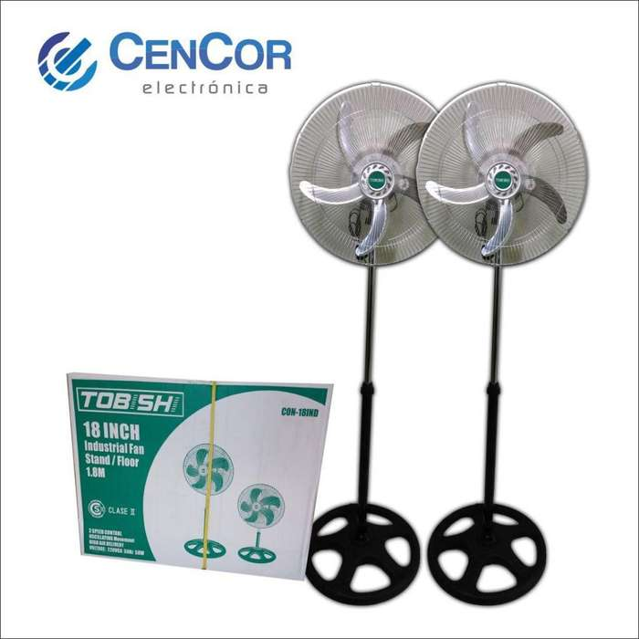 Combo X2 <strong>ventiladores</strong> De 18p Con Paletas De Aluminio! CenCor Electrónica