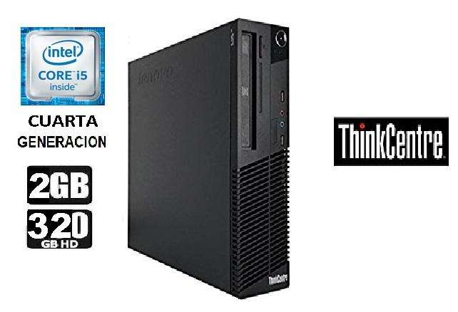Cpu Core I5 Cuarta Gen. Ram 2 Gb Disco Duro 320 Gb Lenovo/ SOMOS TIENDA MASTER TEC 1.0