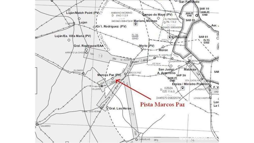 Aeródromo Marcos Paz USD 2.500.000 Campo en Venta en Marcos Paz.