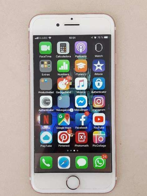iPhone7 128GB Rose Gold USADO, en PERFECTO estado case protector protector pantalla vidrio templado