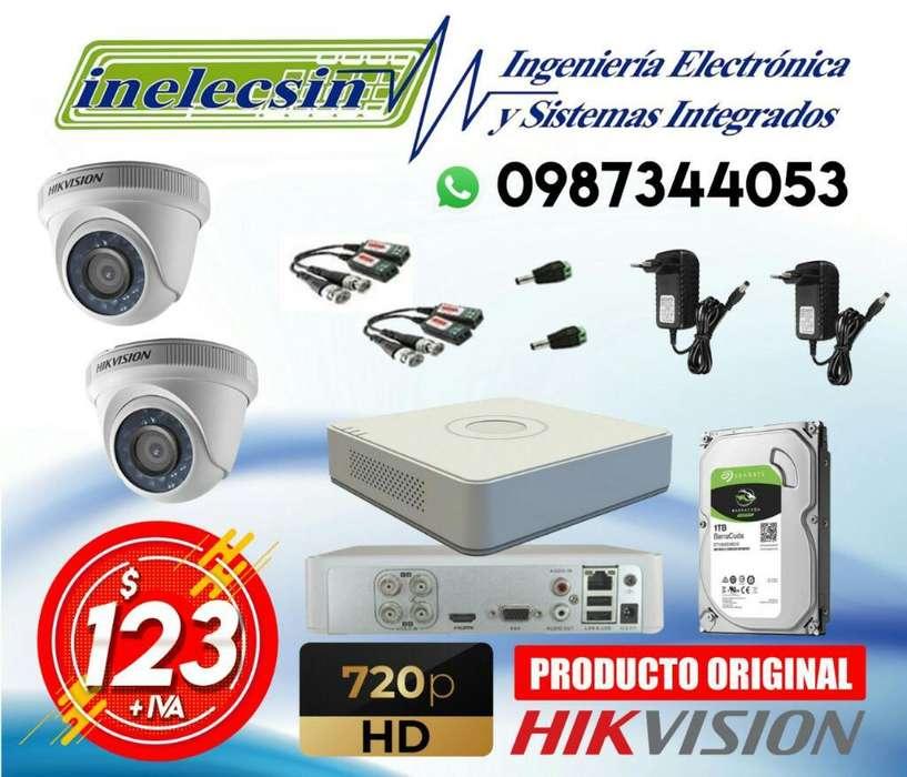Kit de 2 Camaras de Seguridad Hikvision