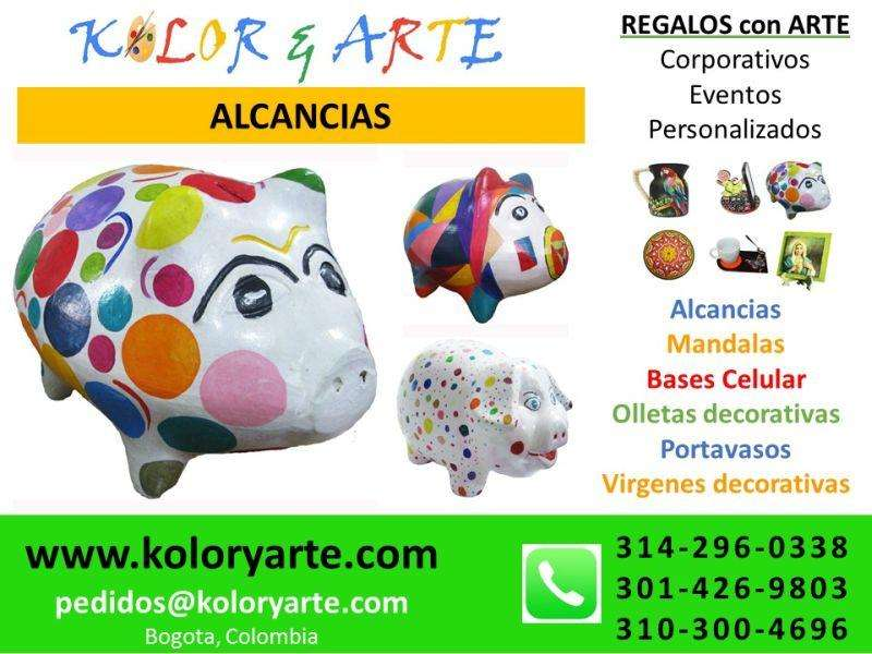 ARTICULOS DECORATIVOS: ALCANCIAS, PORTAVASOS, CUADROS RELIGIOSOS, MANDALAS, OLLETAS, ...