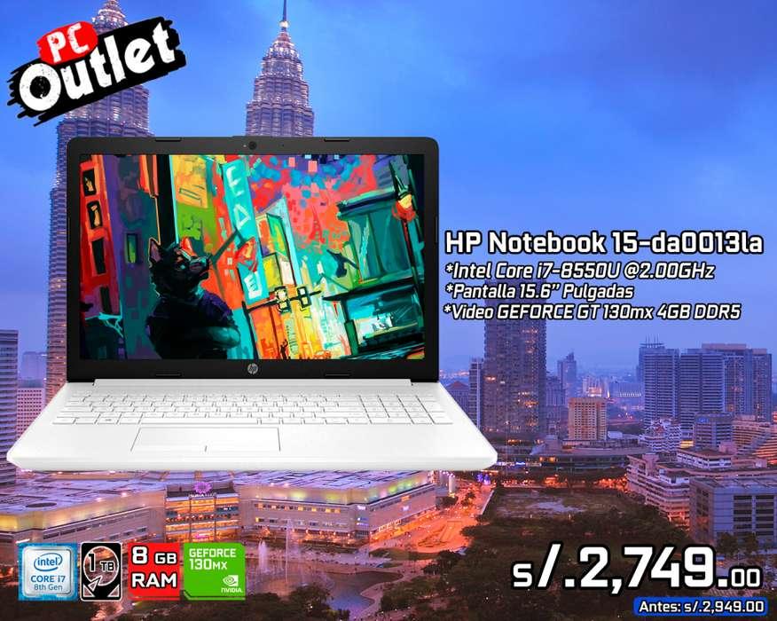 laptop HP Notebook 15-da0013la Intel Core i7 8va