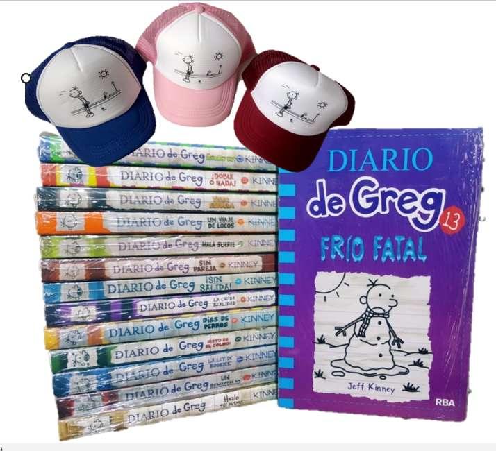 Diarios de Greg x 13 libros nuevos Gratis cachucha y envio