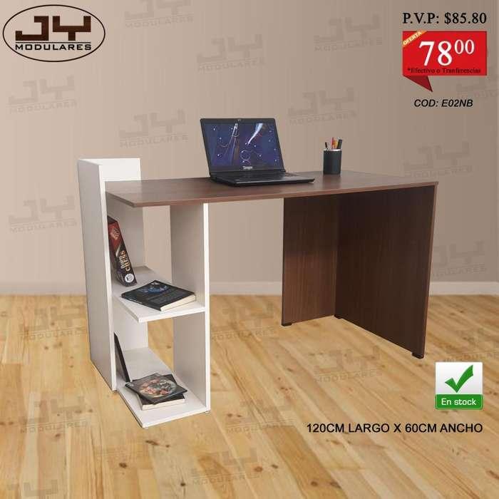 Escritorios mesa PC dif colores, con librero, promoción, para pc o laptop