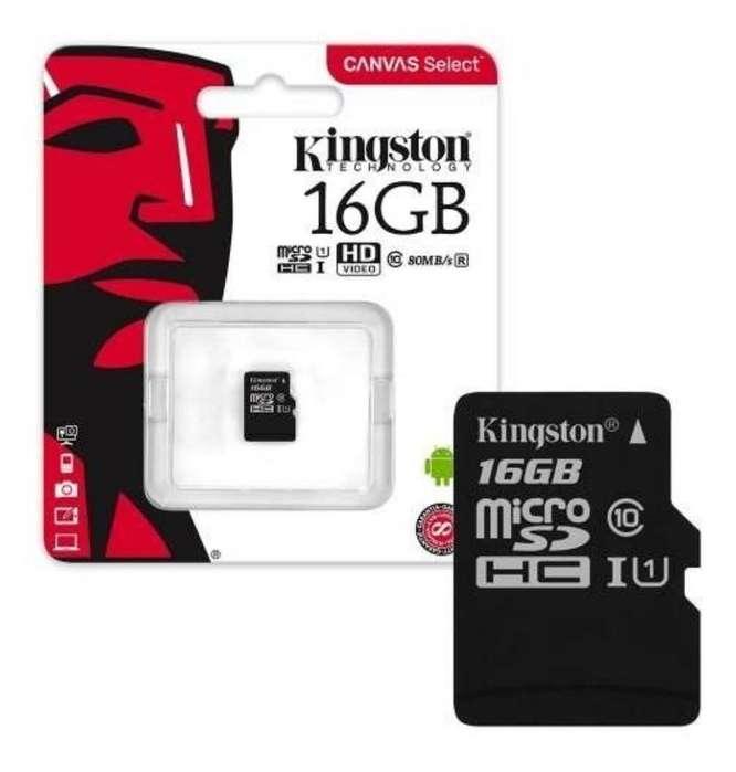 Micro Sd Kingston16 Gb Clase 10