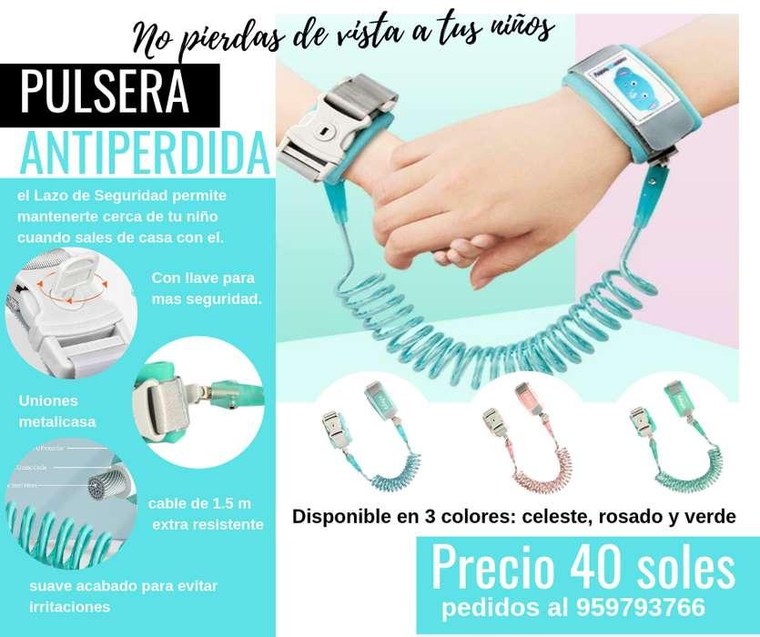 pulsera bracelete lazo de seguridad para niños arnes antiperidida