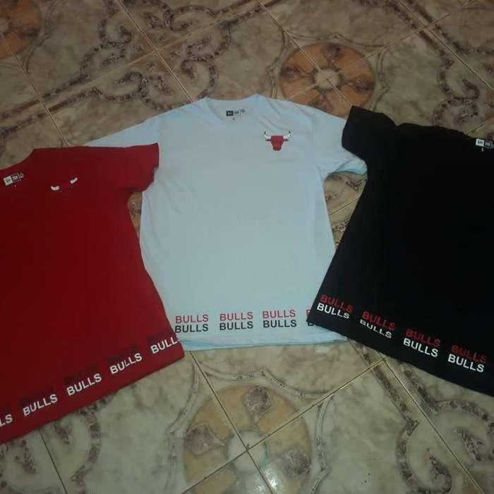 Camisetas de Los Bulls Marca Newera