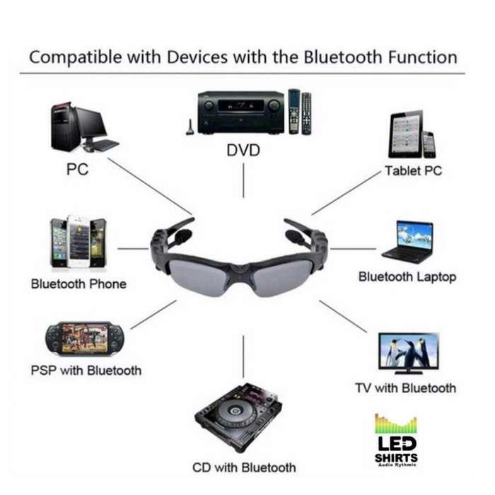 Gafas con Conexion Bluetooth