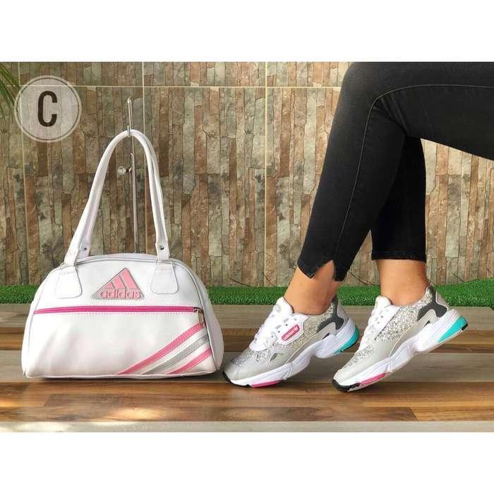Adidas Falcón de Dama con Bolso