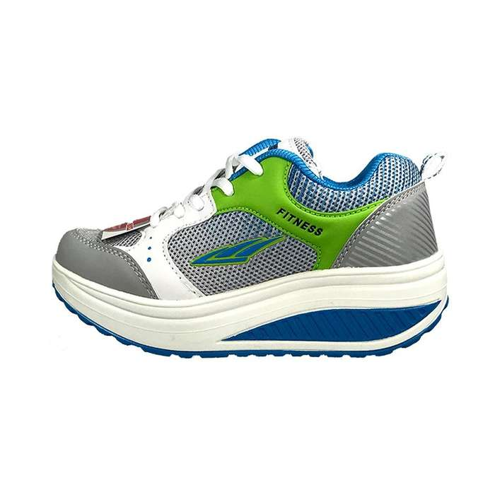 Tenis Verde Azul Tonificar Caminar Fitness Shoes... Telecompras Colombia