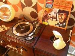 Telefono erickophone ericksoon diseño retro vintage 60s func buen estado