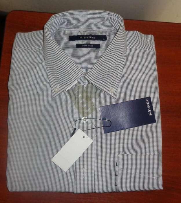 Camisa K. Stevens Manga Corta Talla L para Hombre