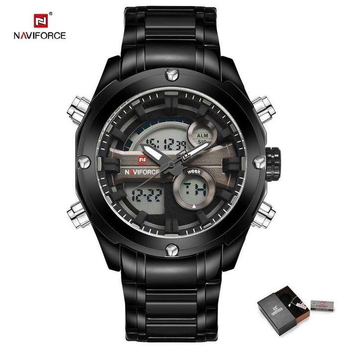 Naviforce 9088 Reloj Hombre Analogo Digital Dual