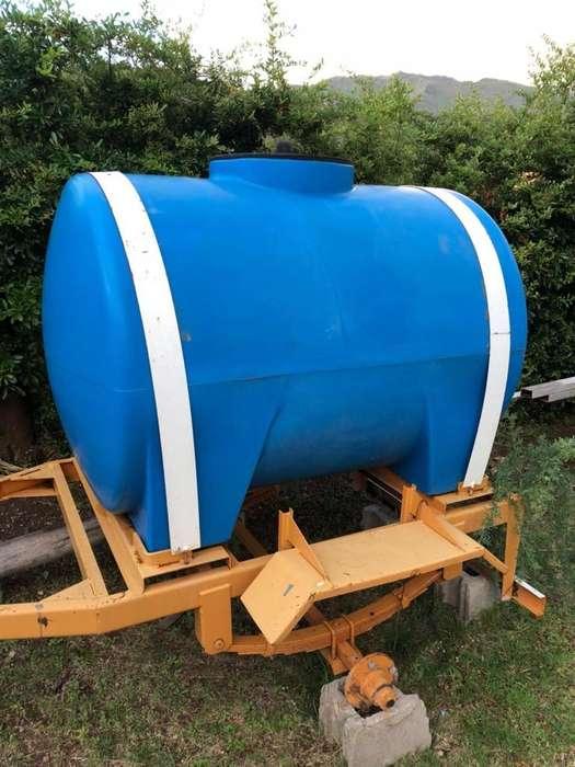 Tanque de Agua 1200Lts. Cistera Trailer