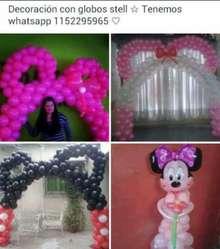 Decoración Mickey/ Minnie Mouse con Glob