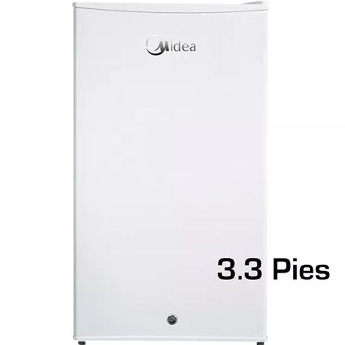 Midea Mini Bar Nevera Refrigeradora 3.3 Pies Congelador Silv