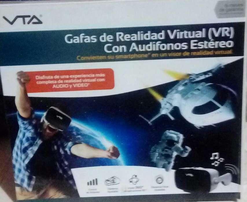 Gafas de Rialidad Virtual con Audifonos