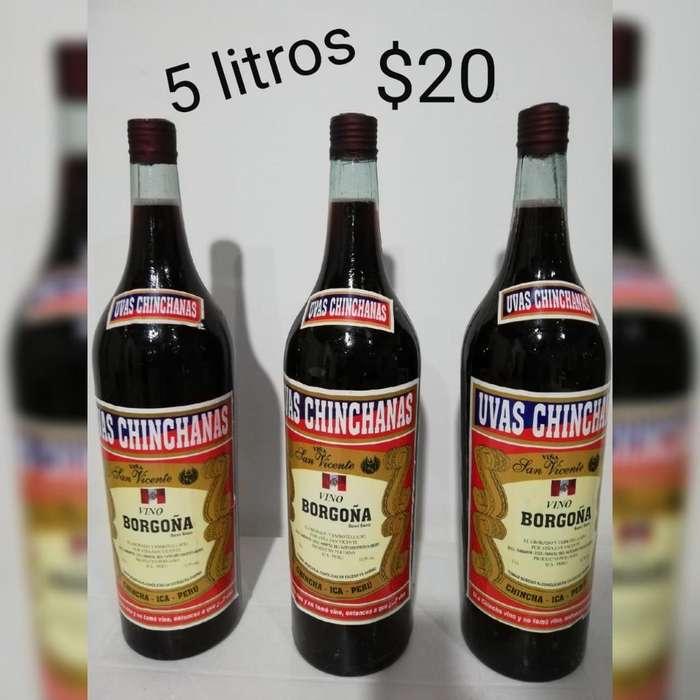 Vendo Vino de 5 Litros 0993070600