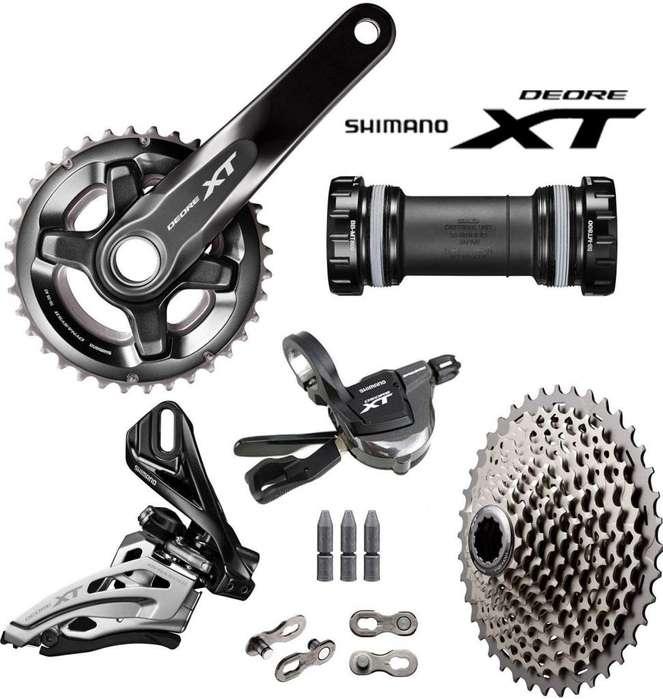 Grupo Shimano Xt M8000 Doble Plato 11 X 2 / <strong>bicicleta</strong> De Mtb