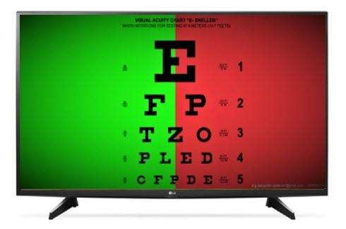 Monitor de pruebas de optometría, oftamología