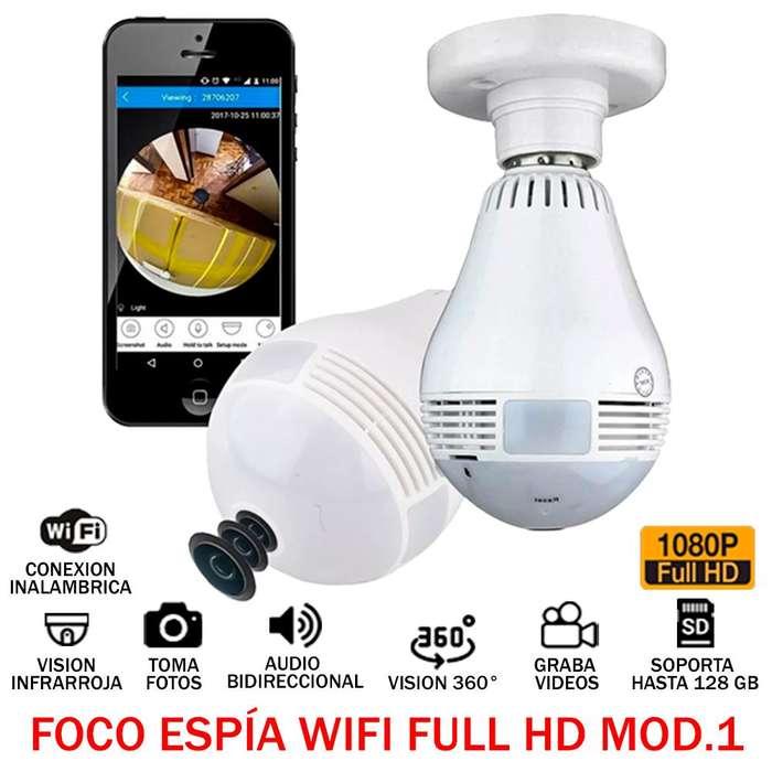 Foco Espia Full Hd 1080p 360 Wifi Audio Video Oculto 128gb