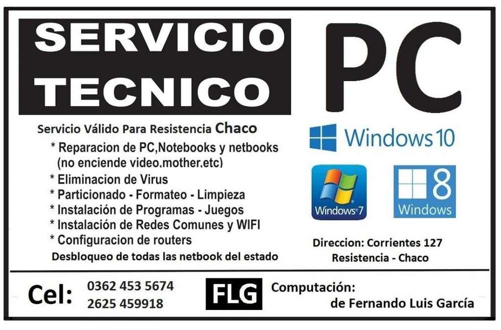 Servicio Tecnico de Pc de escritorio, notebook y netbooks Resistencia Chaco 02625-459918