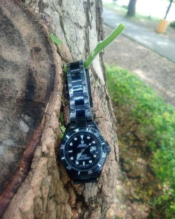 Reloj Hombre Casual <strong>rolex</strong> Black Natural DTEMPORADA