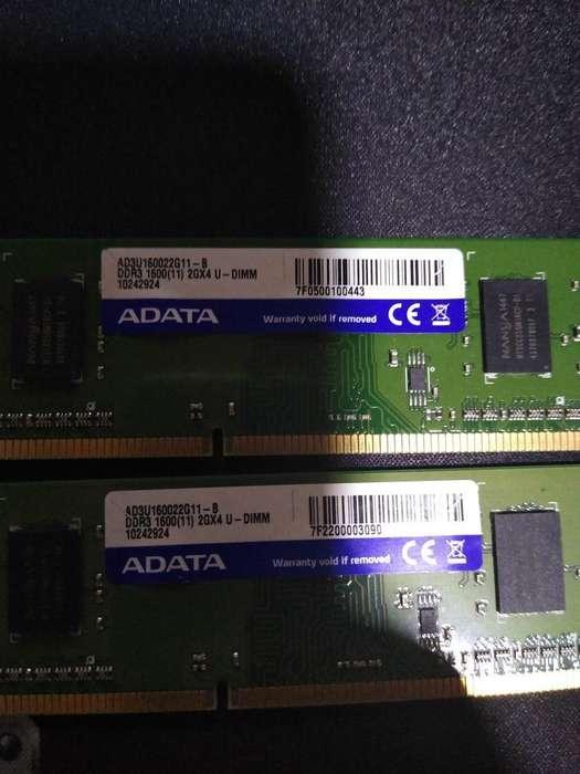 Memoria Ram Ddr3 2gb X 2 Adata