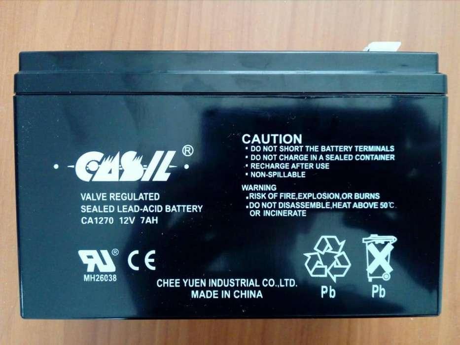 <strong>bateria</strong> Recargable 12V 7A UPS Cercos Alarmas