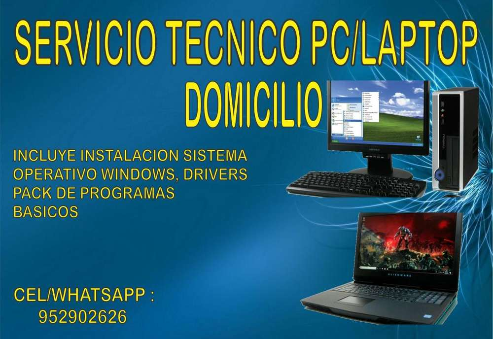 SERVICIO TECNICO PC/LAPTOP A DOMICILIO