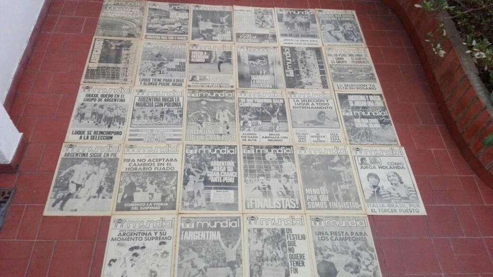 VENDO EDICION COMPLETA DE CLARIN DE ARGENTINA CAMPEONA MUNDIAL 1978