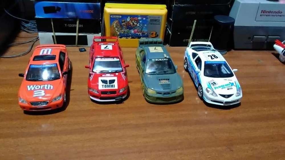 Autos a escala - Deportivos RALLY (12 cm) Lexus, Mitsubishi, Subaru, Honda.