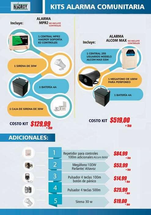 ALARMA COMUNITARIA / SISTEMA CONTRA ROBOS /SIRENA /SEGURIDAD CIUDADANA