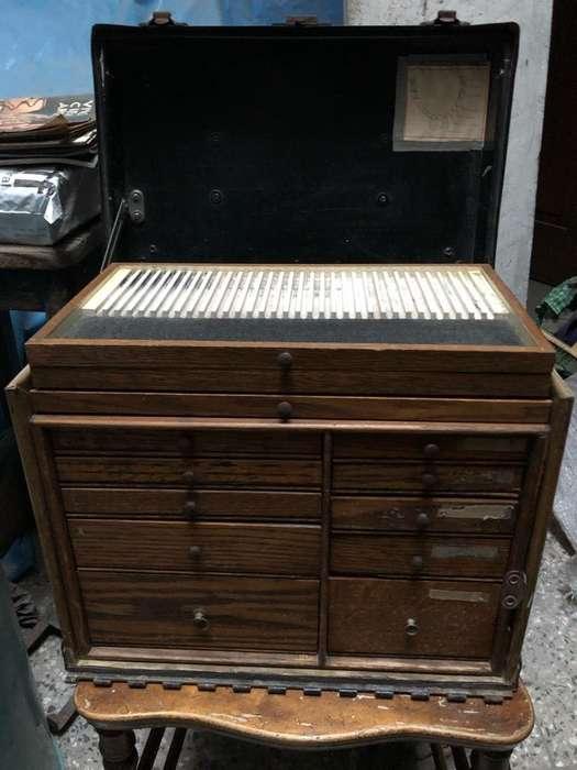 Mueble Madera I Cajones Peq.antiguo de uso dental